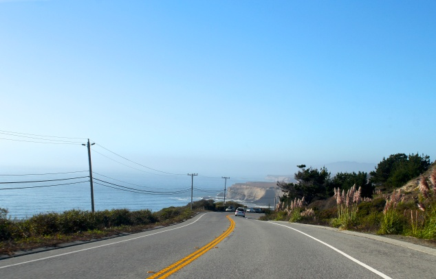 The road to Half Moon Bay